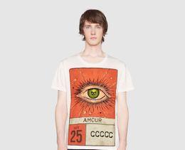 "Wholesale Icon Prints - ICON brand short sleeve ""Amour"" eye print T-shirt men,cotton clothing base white 3D fit fashion casual men t-shirts T1509"