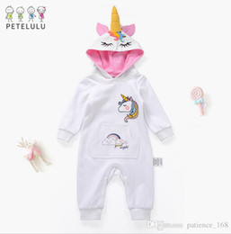 Wholesale long white stockings girl - IN stock INS 2018 new styles spring NEW ARRIVAL Kids Long Sleeve cartoon animal Romper high quality cotton baby Climb romper free shipping