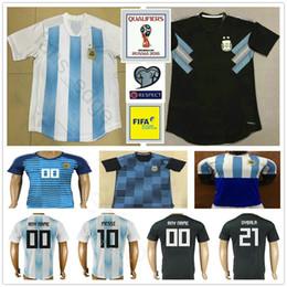 Wholesale Messi Jersey Xl - 2018 World Cup Argentina Soccer Jersey 10 MESSI KUN AGUERO MARADONA HIGUAIN DI MARIA LAMELA 9 ICARDI 21 DYBALA LAVEZZI Custom Football Shirt