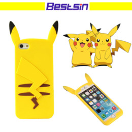 Wholesale Smartphone Case Cover Silicone - 3D Pocket Monsters Pokemons Phone Case Cover Cartoon Anti-knock Smartphone Back Cover For Iphone 6 6s 6plus 6splus