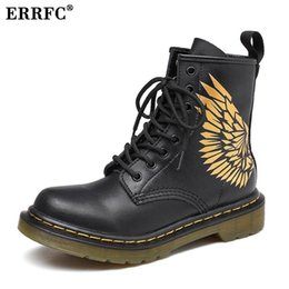 ERRFC New Arrival Men s Martin Boots Wing Pattern Black Short Ankle Boots  For Man Work Safety Motorcycle Size 38-46 Male dd91859c38e9