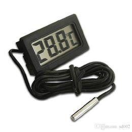 Termómetro integrado Termómetro electrónico digital Medida por debajo de cero Pantalla LCD con sonda Herramientas prácticas de la cocina Alta calidad 3 7ys ZZ desde fabricantes