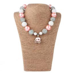 2019 baby mädchen perlen armbänder Mädchen Rosa Kürbis Halskette Kinder Halloween Diamant Charms Halsketten Anhänger Schmuck Zubehör Für Mädchen Geburtstagsgeschenk