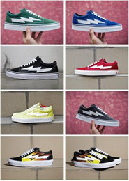 Wholesale Flame Fabrics - Yezee Calabasas Ian Connors Revenge X Storm Old Skool Sneakers kanye west Pop-up Store Casual Shoe Men Women Canvas Shoes Flame Thunder