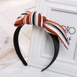 Wholesale Wide White Headband - Fashion Women Girls Multi Colors Bowknot Wide Hairband Print Fabric Headband Handmade Leaves Print Headwrap Hair Accessories