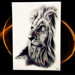 Argentina Caliente Negro Tatoo Hombres Mujeres Animal África Serengeti León Tatuaje Temporal Indio Tribal Mighty Lion Warrior Impermeable Flash Tattoo Sticker cheap temporary indian tattoos Suministro