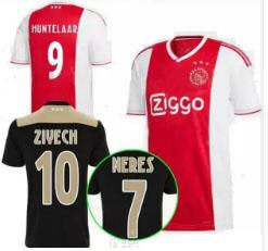 Wholesale thailand soccer jerseys free shipping - free shipping New 18 19 ajax soccer jersey away black home 2018 2019 ajax NERES HUNTELAAR football shirts thailand quality