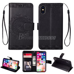 Wholesale flower frames for photos - 2018 Wallet PU Leather Case For iPhone X 8 7 6 Plus Samsung S9 S8 Note8 Flip Cover & Card Slot Photo Frame Flower-Pattern
