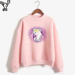 Wholesale Kawaii Winter Hats - BTS Unicorn Sweatshirt Women Pink Fashion Women Hoodies Sweatshirts Kawaii Hoodies Winter Autumn Korean Sweatshirt XXS-4XL