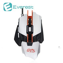 Wholesale Wrist Weights Adjustable - Ajazz GTX Wired Gaming Mouse 4000 DPI 7 Buttons Adjustable Wrist Pad and Weight Tuning Mechanical Mouse