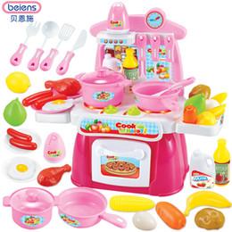 2019 miniaturleuchten Beiens Kinder Küche Spielzeug Kochen Spielzeug Spielen für Kinder Spielzeug Rollenspiel Mit Licht Sound Effekt Lustige Haus Miniatur günstig miniaturleuchten