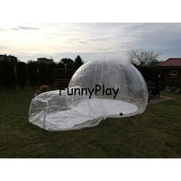 tienda de campaña para acampar al aire libre Rebajas Tienda inflable al aire libre de la burbuja que acampa, tiendas transparentes de la cúpula inflable del césped, tiendas de emergencia del aire, refugio sellado inflable de la tienda