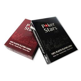 1 Компл. Покер Звезды Техасский Холдем Пластиковые Игральные Карты Водонепроницаемый Глазурь Покер Карты Pokerstar Настольная Игра от Поставщики пластиковые карты игры