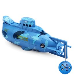 Wholesale remote control rc submarines - Mini RC Submarine 6CH RC Submarine Tourism Boat Radio Remote Control Boat SeaWing Star 3311 Mini RC Submarine Boats Toy for Kids
