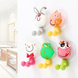 Ventosas de banheiro on-line-Minion Bonito Animal HelloKitty Dos Desenhos Animados Ventosa Escova de Dentes Titular Acessórios Do Banheiro Conjunto de Parede Titular de Sucção Ferramenta
