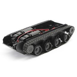 Motor de choque on-line-3V-7V DIY Luz Shock Absorvido Inteligente Tanque Robô Chassis Car Kit Com 130 Motor Para Arduino SCM