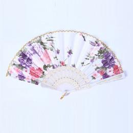 Wholesale Lady Silk Hot - The New hot sale Ms. Silk fan dance High-end ladies fan Gift wedding Vintage Fancy Folding Fan T4H0228