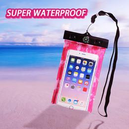 Bolso de la caja del teléfono celular con brújula Buceo al aire libre de la piscina Protector del bolso a prueba de polvo a prueba de polvo impermeable para el teléfono celular desde fabricantes