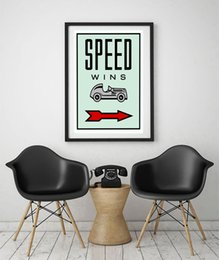 """Wholesale office wall art decor - Unframed Alec Monopoly """"SPEED WINS"""",HD Canvas Print home decor wall art painting,office art culture"""