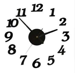 2019 montres relojes horloge murale montre numérique maison horloges salon autocollant décor à la maison montres relojes pas cher