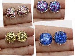 Anéis de casamento de 14mm on-line-14 mm kate estilo casamento brinco 2018 novo banhado a prata brincos de diamantes bela jóia de cristal anéis de orelha