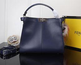 0feddd6318 Peek-a-boo Women Totes Bags Sac à bandoulière Designer Fashion Blue Bags  Femme Double F BAGS sac femme sac à main bleu sur la vente