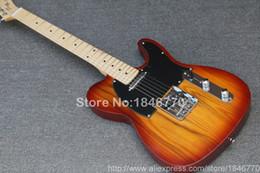 tl acero chitarra Sconti Chitarra elettrica vintage sunburst TL vintage nuovo arrivo, chitarra corpo in ontano di alta qualità, spedizione gratuita