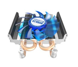 Wholesale 775 fan - PCcooler S85 4pin pwm 2 heatpipe ultra-thin for HTPC mini case all-in-one for Intel 775 1155 1156 CPU cooler fan radiator Silent