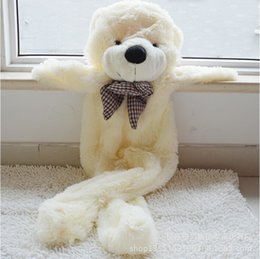 Wholesale Giant Teddy Free - Wholesale-Free Shipping 200cm 2m giant teddy bear skin coat three colors without PP cotton plush toys valentine gifts