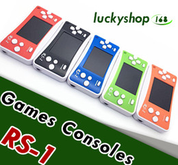 Wholesale Handheld Color - RS-1 Handheld Game Consoles Mini Protable Game Players Color Video Game Children Gifts Classic Games Box Also Sale PXP3 PVP GB NES SFC Games