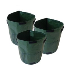 34 * 35 см дышащий завод картофель расти мешок PE овощи плантатор мешок-темно-зеленый от Поставщики темные овощи