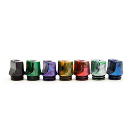 Argentina Nuevo 810 Drip Tips Flat Resin Colorful Bore de amplio diámetro Fit Goon 528 Kennedy 24 AV Battle Apocalipsis Pyro Mesh TFV8 X-Baby TFV12 Suministro