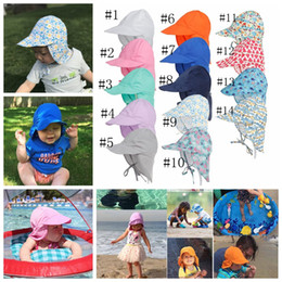 New Summer Newborn Sun Cap Unisex Baby Kids Bucket Hat UV Protection Hat  Outdoor Soft Beach Hat Neck Ear Cover Flap Cap A9922 inexpensive newborn baby  boy ... 950195d320ae