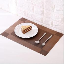 Wholesale slip resistant table cloth - Placemat fashion pvc dining table mat disc pads bowl pad coasters waterproof table cloth pad slip-resistant