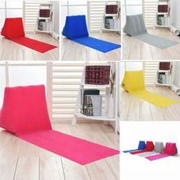 Wholesale Back Mats - 5 colors 150*38*46cm Inflatable Beach Mat Outdoor mattress Pad Flocking Triangle Inflatable Pillow Cushions sofa Benche AAA541