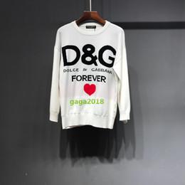 Suéter de punto de las mujeres para siempre amor blusa corazón rojo  Pullover viscosa tejer jacquard sudadera camisa de manga larga Tops camisas  escudo ... aa23760faaa2b