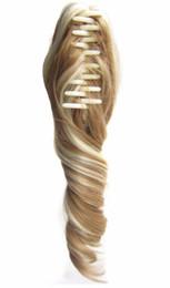QQXCAIW Femmes Filles Bouclées Blond Noir Marron 90G 40 Cm Griffe Pince En Queue De Cheval Clip en Extension de Cheveux Synthétiques Queue De Cheval ? partir de fabricateur