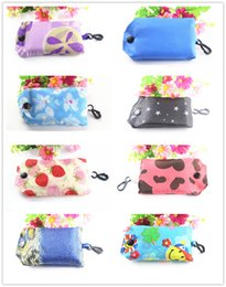 Wholesale Recycling Shopping Bags - 50PCS Recycle bags Keychain Reusable Eco Folding Bag Shopping Bag New Ladies key ring Free Shipping CM132
