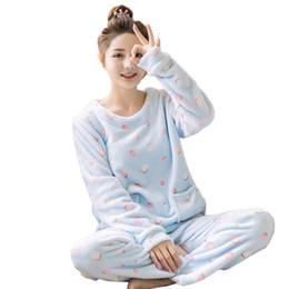 Argentina Adultos, otoño e invierno, mujeres, pijamas, conjuntos gruesos, calientes, pijamas, traje de franela, manga larga, hembra, animal de dibujos animados, pantalones de dormir supplier pyjamas cartoon women Suministro