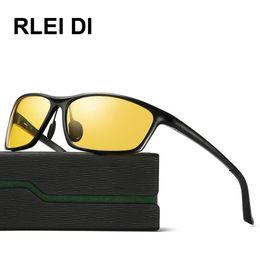 Wholesale Male Night - RLEIDI Aluminum Magnesium Polarized Night Goggles Men Driver Sunglasses Male Driving Glasses UV400 Sun Glasses Automobile