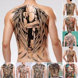 2019 dio flash Adesivo per tatuaggi uomo trasferimento acqua Tatuaggio dio cinese posteriore Impermeabile Tatuaggio temporaneo falso 48x34cm Flash per uomo B3 dio flash economici