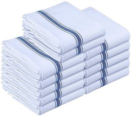 Wholesale Dishcloths Kitchen Towels - 12Pcs Kitchen Towel Dish Cloth Machine Washable Cotton White Kitchen Dishcloths 15 x 25 Inch