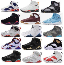 Wholesale Martial Arts Universities - 2018 Athletic Outdoor Shoes Air Retro 7S Men Basketball Shoes Air retro 7 men basketball shoes UNC Pantone University blue Tinker Alternate