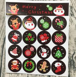 Etichette dolci online-Adesivi per sigillare il Natale Adesivo Kraft di buon Natale Adesivo per torta biscotti Adesivi per dolci da cucina Adesivo per sigillo di partito HH7-1732