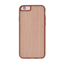Wholesale blue series x - Natural Bamboo Woode grain Phone Cases ultra-thin TPU Protective Back Cover Original Design Element Series for iPhone 6 6s 7 7s plus