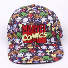 Marvel Comics Baseball Cap Women Mens Gorras Planas Snapbacks Trucker Hat  Outdoor Hip-hop Snapback Caps cheap marvel hats fc0a9e47bcb5