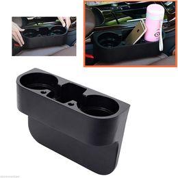 Montaggio a cuneo online-1PCS Black Seat Seam Wedge Car Drink Portabicchieri da viaggio Drink Mount Stand Storage