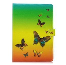 Wholesale Ipad Mini Case Animal Print - For Apple IPAD Pro Mini(IPAD 7), 8 2017 9.7inch,Pro 10.5 inch Flower Butterfly Leather PU Lion Cat Owl Wallet pineapple Card Case Skin Cover