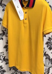 Wholesale Boys Designer Shirts - 2018 Polo shirt wolf head embroidery Men Luxury Polo Shirts short Sleeve Men's Basic Top Cotton Polos For Boys Brand Designer Polo
