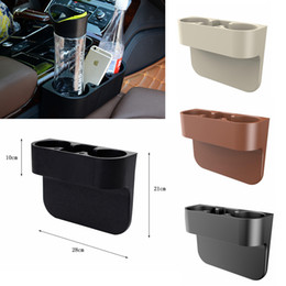 Wholesale Wedge Mount - Car Cup Drink phone Holder Organizer plastic Seat Wedge Beverage Auto Truck Travel Mount Universal water bottles holder 3colors FFA118 20pcs